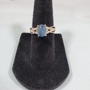 Nwt Star Blue Opal sterling silver ring